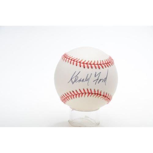 President Gerald Ford Autographed Baseball - JSA