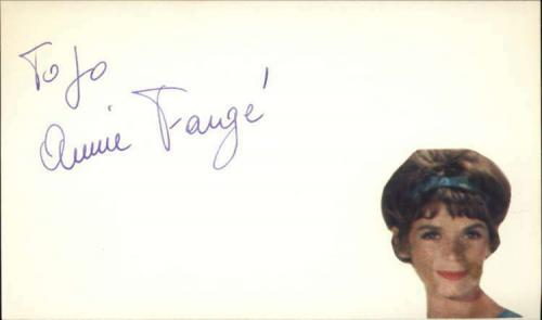 "Annie Fargue D.2011 French Actress Signed 3"" x 5"" Index Card"