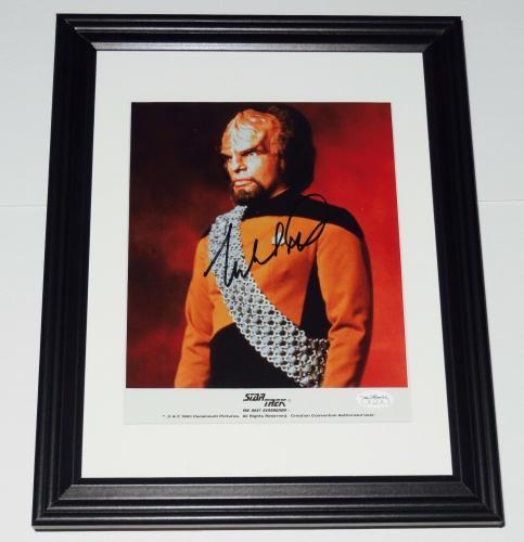 Michael Dorn Autographed 8x10 Color Photo (framed & Matted) - Star Trek!