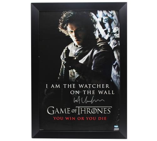 Kit Harington Signed Game of Thrones Watcher on the Wall Framed Poster