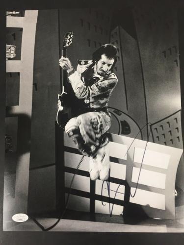 Pete Townshend Signed Photo 11x14 JSA Who Autograph Quadrophenia Guitar HOF JSA
