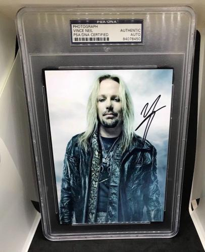 Vince Neil Signed 5 x 7 Photo Motley Crue PSA DNA