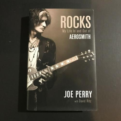 Joe Perry Signed Book Rocks My Life In & Out of Aerosmith JSA Steven Tyler Auto