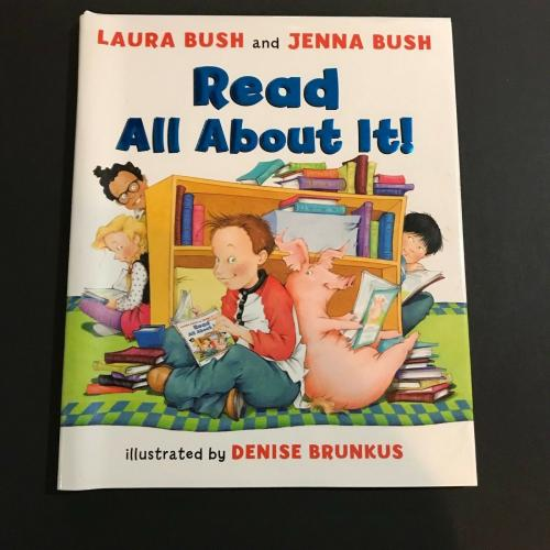 Laura And Jenna Bush Signed Book Dual Auto Read All About It JSA George Bush