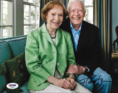 President Jimmy Carter & Rosalynn Carter Dual Signed 8x10 Photo PSA/DNA COA (A)