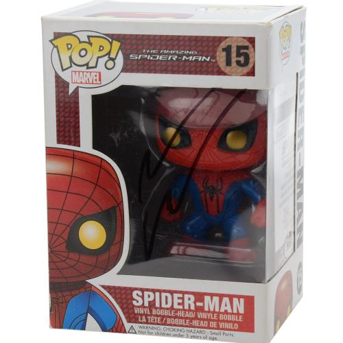 Andrew Garfield the Amazing Spiderman Autographed #15 Spider-Man Funko Pop! - JSA