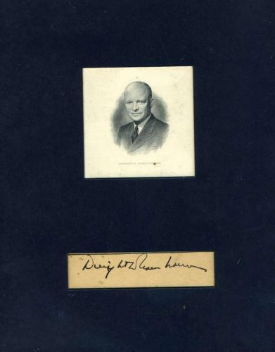 Dwight  Eisenhower Jsa Cert Hand Signed Matted Cut Autograph