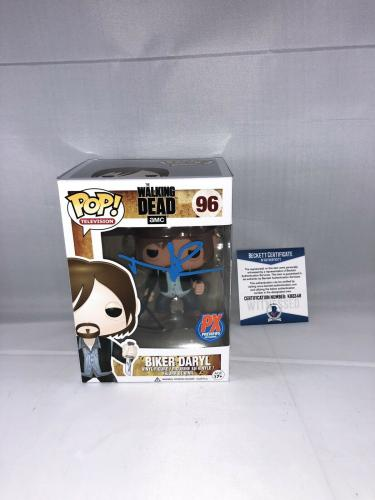 Norman Reedus Signed The Walking Dead Biker Daryl Funko Pop Bas Beckett 5
