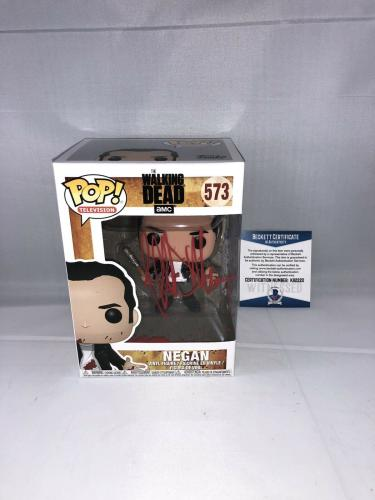 Jeffrey Dean Morgan Signed The Walking Dead Negan Funko Pop Bas Beckett 4
