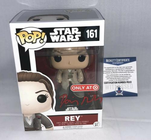 Daisy Ridley Signed Star Wars Rey Funko Pop Bas Beckett Target Exclusive
