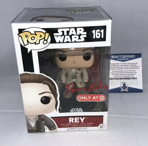 Daisy Ridley Signed Star Wars Rey Funko Pop Bas Beckett Target Exclusive 2