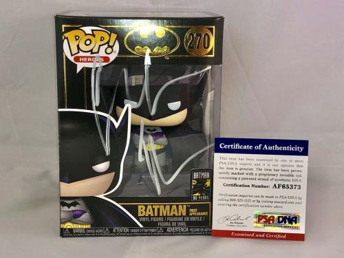 Christian Bale Hand Signed Auto Batman Gold Funko Pop 270 Dark Knight Psa Dna #2
