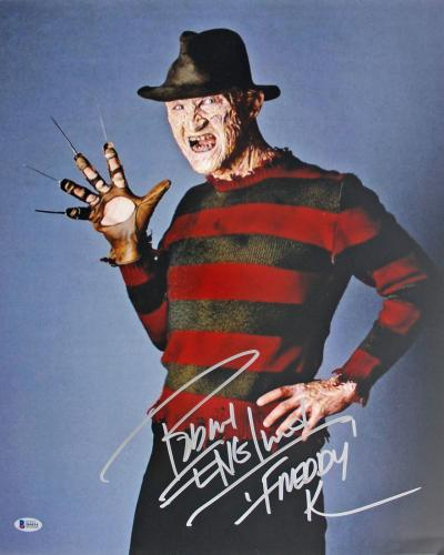"Robert Englund Nightmare On Elm St ""Freddy K"" Signed 16x20 Photo BAS #I64414"