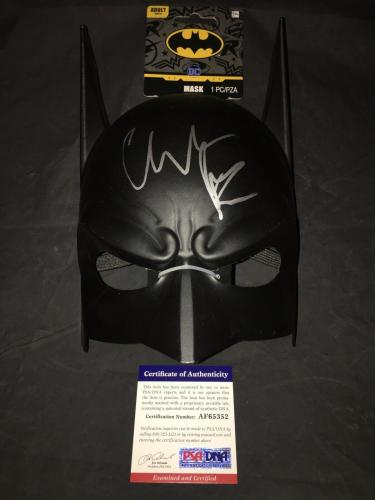 Christian Bale Signed Official Batman Funko Mask The Dark Knight PSA/DNA #6