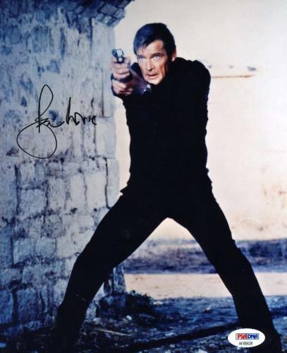 Roger Moore Psa Dna Coa Hand Signed 8x10 James Bond Photo Autograph