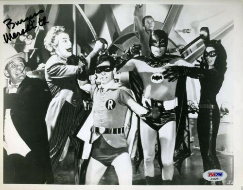 Burgess Meredith Psa Dna Cert Autograph 8x10 Batman Photo Hand Signed