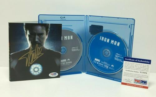 Stan Lee Signed Iron Man Blu Ray Disc Set PSA Y17874