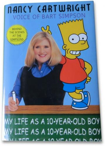 Matt Groening Autographed Hardcover Book The Simpsons Bart Sketch JSA Z99848