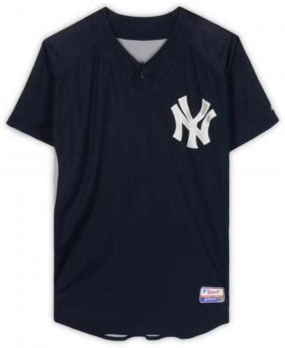 Mike Myers New York Yankees Practice-Used #36 Navy Jersey from Batting Practice during the 2007 MLB Season