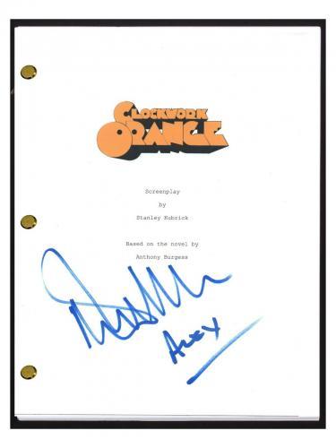 Malcolm McDowell Signed Autograph A CLOCKWORK ORANGE Movie Script Screenplay COA
