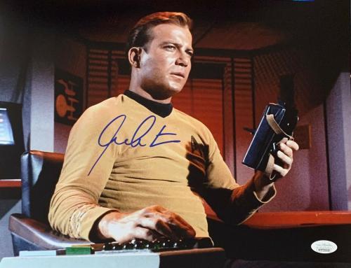 William Shatner Star Trek Signed Autographed 11x14 Photo JSA Authenticated 9