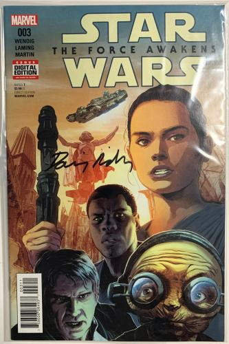 Daisy Ridley Signed Star Wars The Force Awakens Marvel Comic 003 Rey PSA DNA COA
