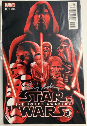 Daisy Ridley Signed Star Wars The Force Awakens Marvel Comic 001 Rey PSA DNA COA