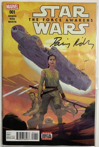 Daisy Ridley Signed Star Wars The Force Awakens Marvel Comic 001 Rey PSA DNA