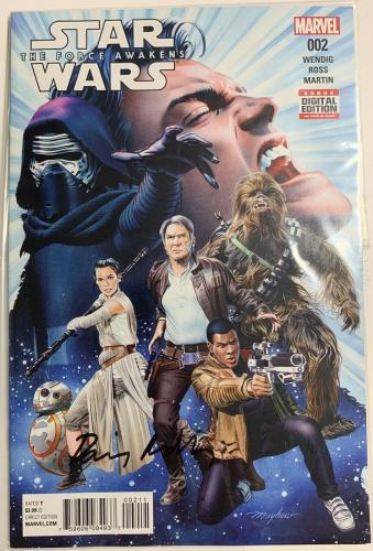 Daisy Ridley Signed Star Wars The Force Awakens Marvel Comic 002 Rey PSA DNA COA