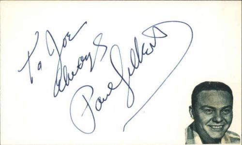 "Paul Gilbert 1976 Actor The Duke Signed 3"" x 5"" Index Card"