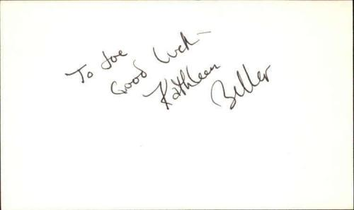 "Kathy Beller Actress Godfather II Signed 3"" x 5"" Index Card"