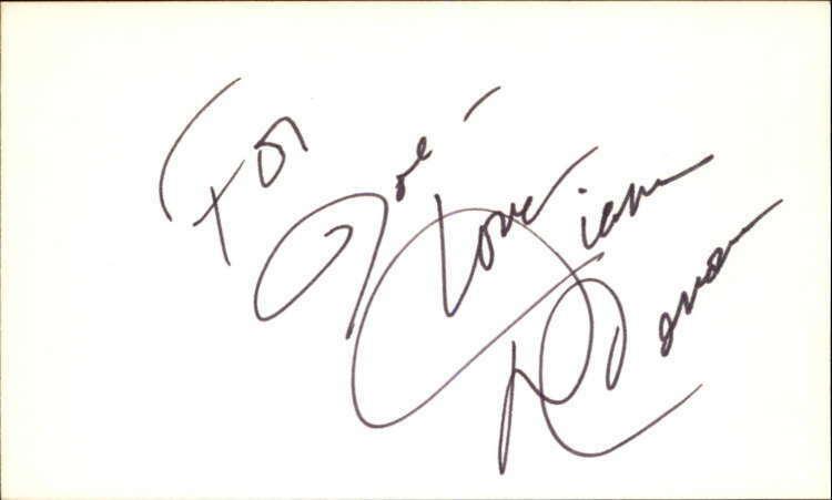 Diana Canova Soap Signed 3 X5 Index Card Diana canova was born on june 1, 1953 in west palm beach, florida, usa as diana rivero. hollywood memorabilia