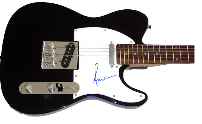 Paul Anka Autographed Signed Guitar PSA/DNA Dual Certified