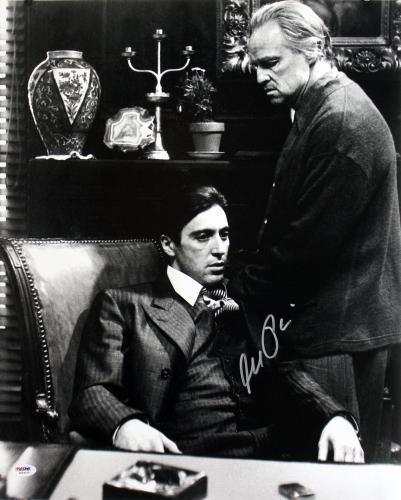 Al Pacino Godfather  Signed 16X20 Photo W/ Brando PSA ITP