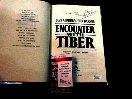 Buzz Aldrin Apollo 11 Astronaut Signed Auto Encounter With Tiber Book Jsa Beauty