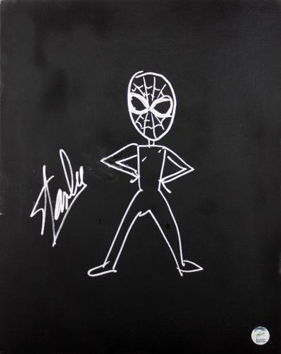 Stan Lee Signed 16x20 Canvas w/ Spider-man Sketch PSA/DNA #W00381