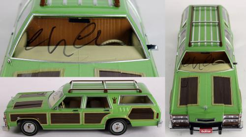 Chevy Chase National Lampoon's Vacation Signed 1:18 Family Truckster BAS 1