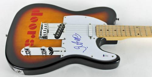 Robbie Krieger The Doors Signed Electric Guitar BAS #C10268