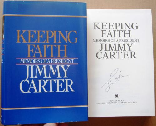 Jimmy Carter signed book Keeping Faith Memoir 1st Print Beckett BAS Authentic