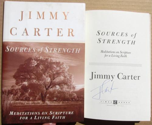 Jimmy Carter signed book Sources of Strength 1st Print Beckett BAS Authentic