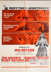 100 Rifles 1969 sheet Movie Poster Starring Jim Brown Raquel Welch Burt Reynolds