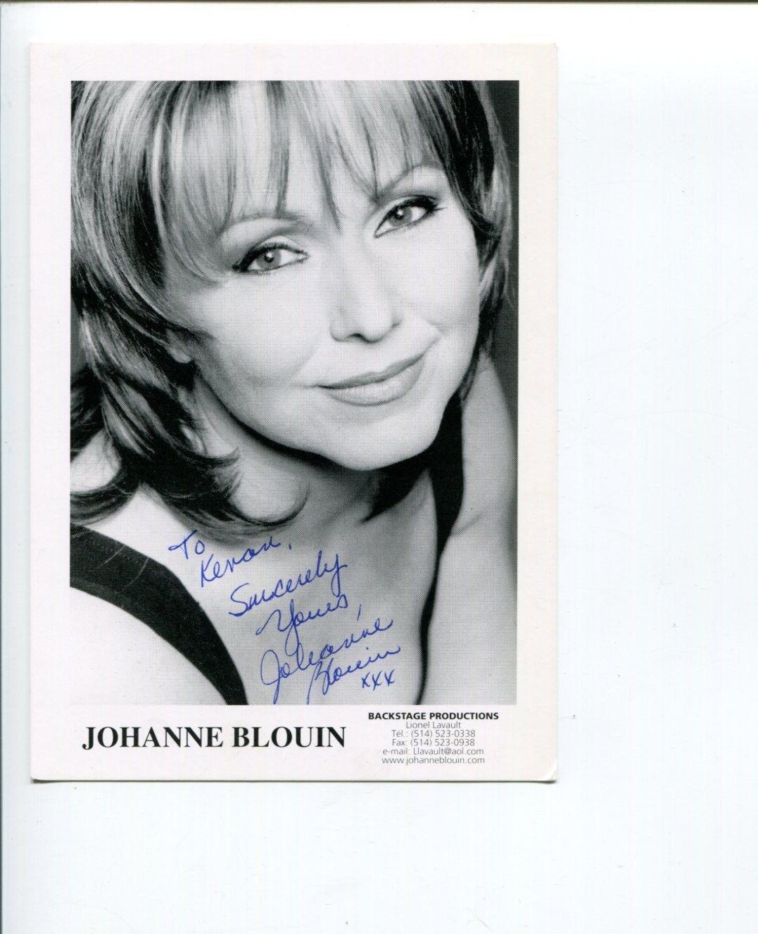 Johanne Blouin Famous Canadian Jazz Singer Signed Autograph Photo