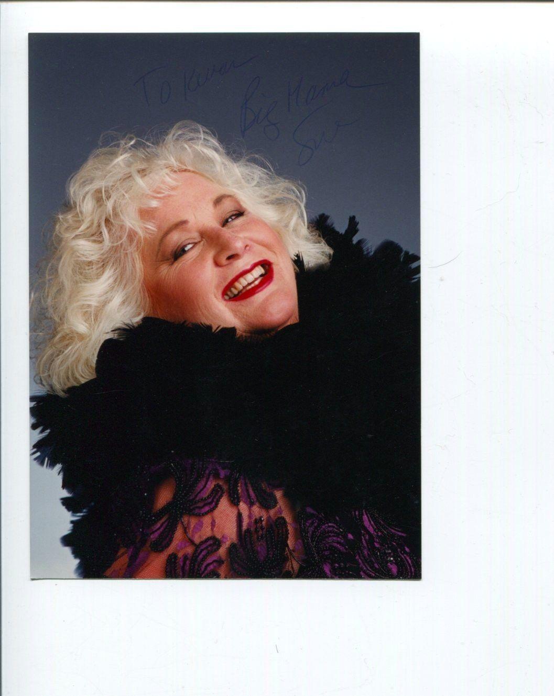 Sue Kroninger Big Mama Jazz Big Band Singer Signed Autograph Photo