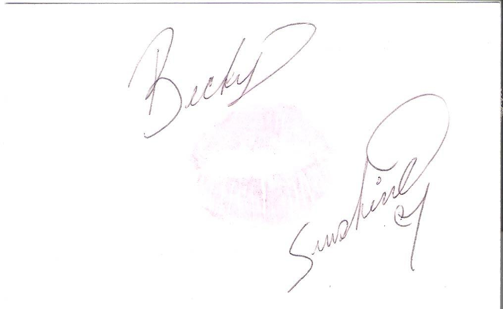 BECKY SUNSHINE (ADULT FILM STAR) LIPPS on CARD Signed 5x3 Index Card