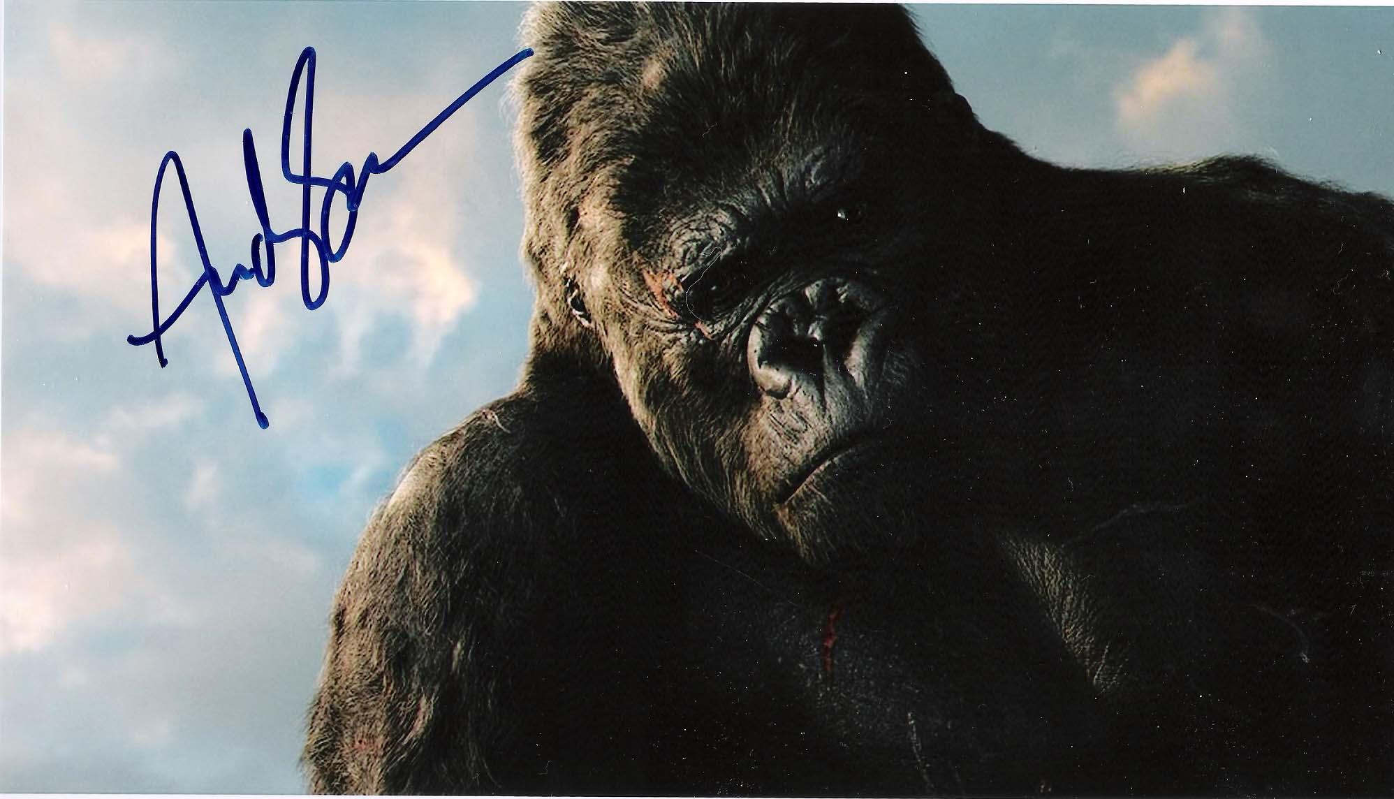 """King Autographed Photo - with """" KONG"""" Inscription"""