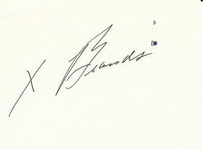 Jay X. Brand (D.2000) Signed 3x5 Index Card