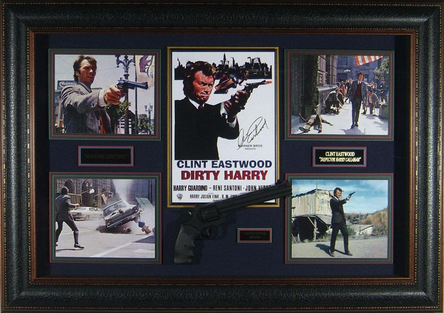 Dirty Harry - Clint Eastwood Signed Movie Collage