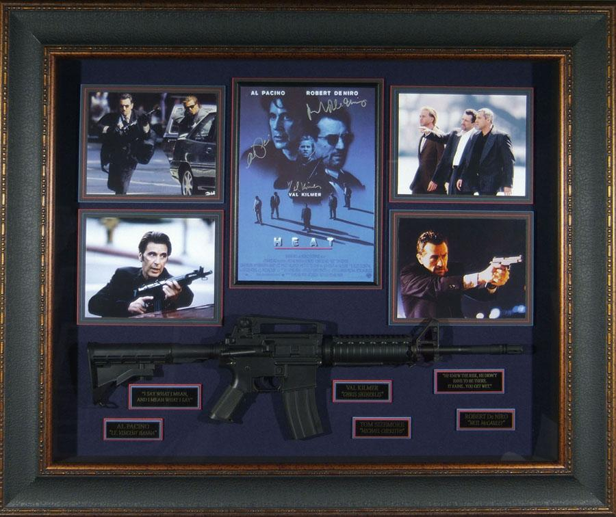 Heat - Pacino Kilmer De Niro Cast Signed Home Theater Display