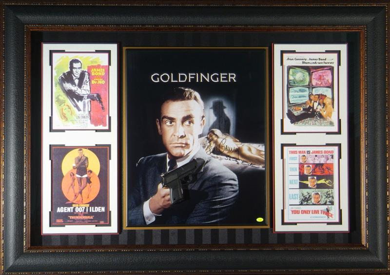 James Bond 007 - Goldfinger Sean Connery Signed Movie Displa