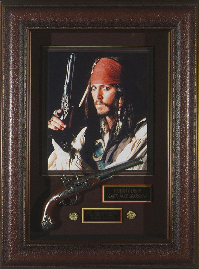 Pirates of the Caribbean - Johnny Depp SIGNED Framed Display